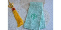 Serviette à mains tissage jacquard damassé