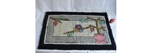 Tapis crocheté de style Art déco