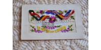 Carte postale militaire soie brodée Première Guerre - 2