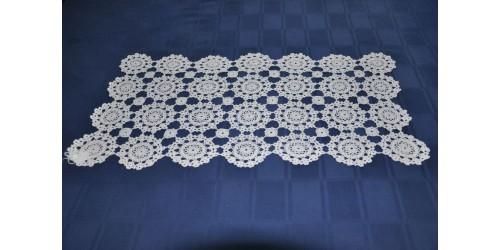 Napperon décoratif blanc en dentelle au crochet