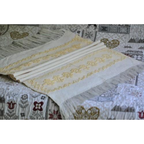 Vintage Quebec Hand Woven 1970's Tea Towel