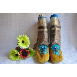 Authentic Handmade Inuit Seal Skin Mukluks