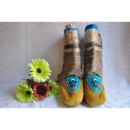Authentic Handmade Inuit Seal Skin Mukluks