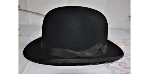 Chapeau melon en feutre noir petite taille Moores