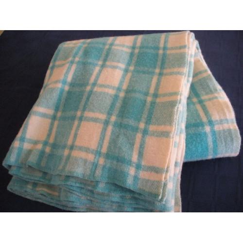 Vintage Pure Wool Travel Blanket or Throw