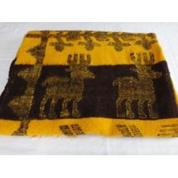 Hand Spun and Woven Wool Blanket