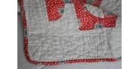 Courtepointe canadienne rouge et blanc ancienne