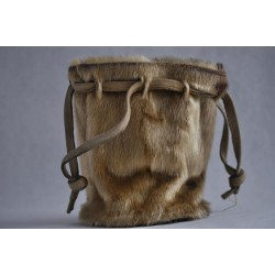 Vintage Raw String Sealskin Pouch Bag