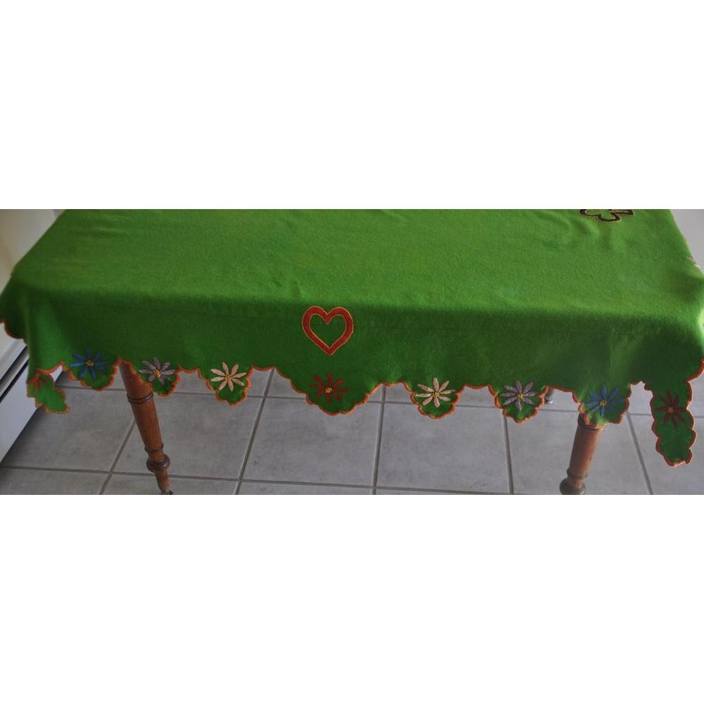 PVC Table Nappe lavables Protecteur Café Coffee Shop Vintage Signes Rouge Aqua