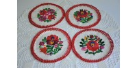 Set of Hand Embroidered Coasters