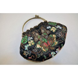 Hand Beaded and sequined Shoulder or Hand Clutch Evening Handbag