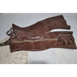 Pair Of Vintage Children's Leather Spatterdashes