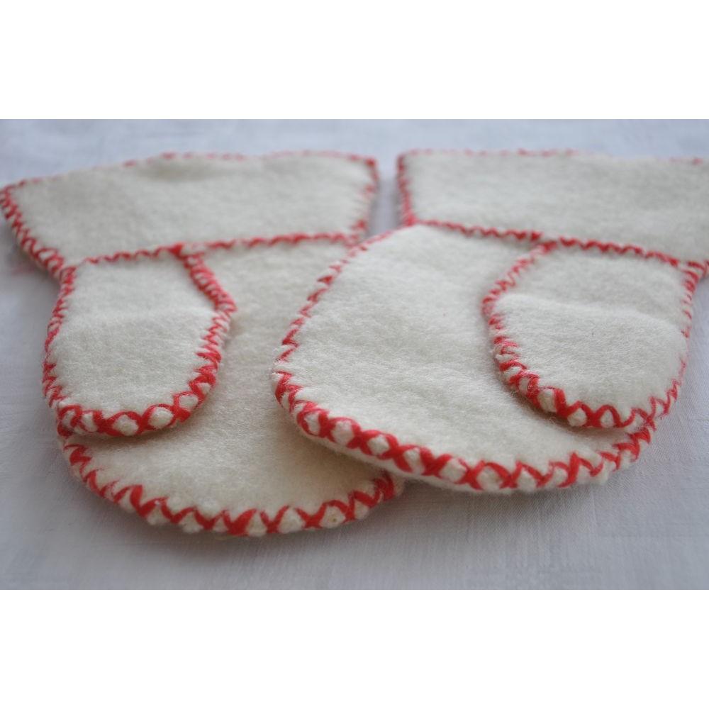 Nouvelle liste arrive plus gros rabais Moufles mitaines Inuites feutre de laine cousues brodées ...