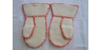 Moufles inuites  en laine foulée ou feutrée