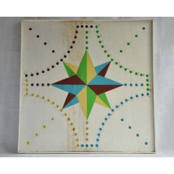 Tock Folk Art Wood Game Board from Quebec