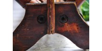 Antique porte-revues pliant en bambou