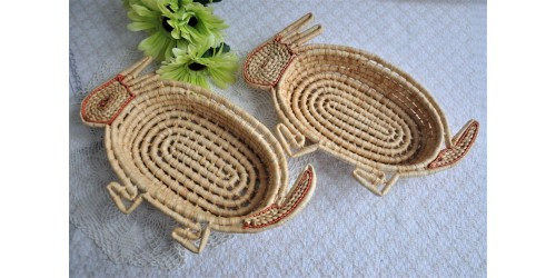 Hand Woven Maize Bunny Shape Baskets