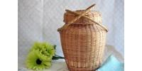 Panier à tricot ou couture algonquin abénaki