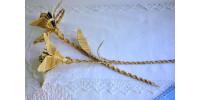Fleurs de paille de seigle tressée vintage