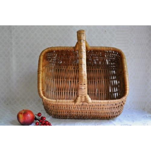 Large Gathering or Market Wicker Hand Basket