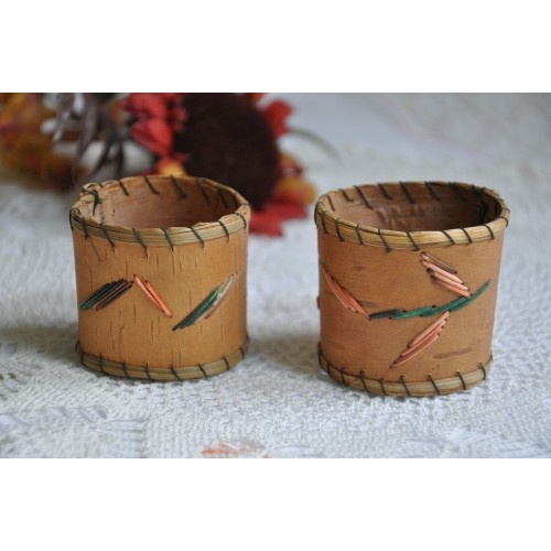 Native Napkin Rings with Porcupine Quills