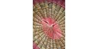 Panier amérindien ovale en frêne et foin d'odeur