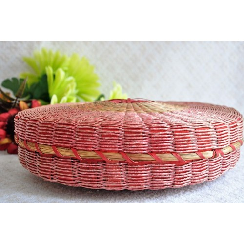 Native Woven Ash And Sweetgrass Oval Basket
