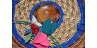 Panier à couture en forme de nid de poule