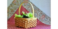 Handcrafted Twisted Splint Woven Basket