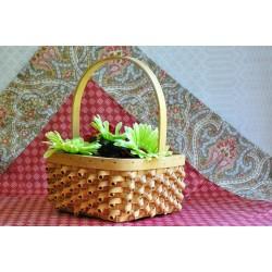 Handcrafted Twisted Splint Woven Basket