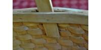 Panier en éclisses torsadées à poignée fixe