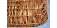 Panier à provisions rectangulaire en osier tressé