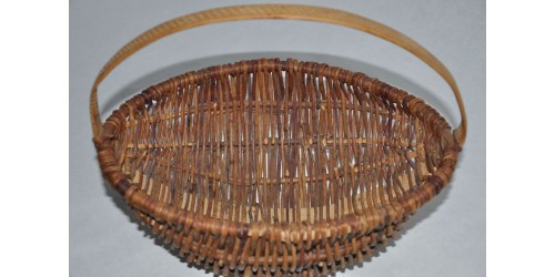 Vintage Hand Woven Country Canadian Heritage Basket