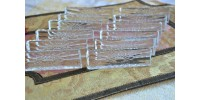 Vintage Lead Crystal Rectangular Knife Rests