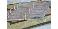 Porte-couteaux en cristal brillant à motif floral