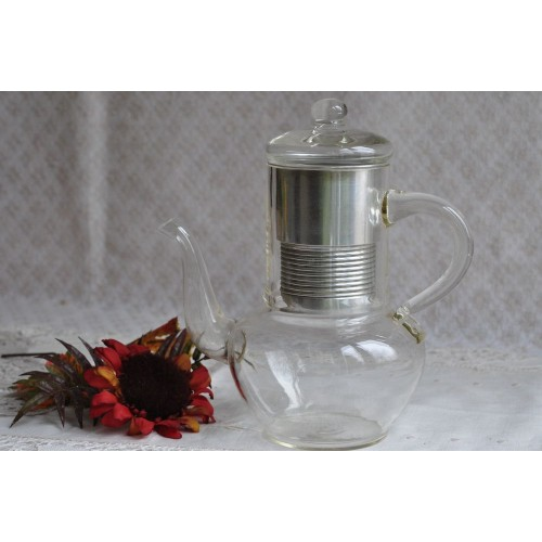 Antique French Pyrex Filtration Coffee Pot