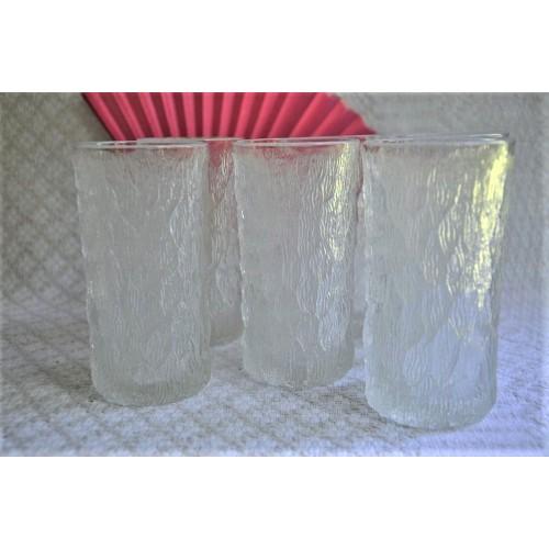 Goebel Ice Bark Texture Water Glasses
