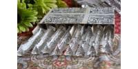 Porte-couteaux en cristal taillé brillant