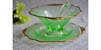 Vintage Cambridge Depression Glass Mayo Set