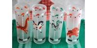 Grands verres Libbey à  motifs animaliers
