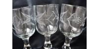 Verres à pied québécois anciens St. Johns Glass