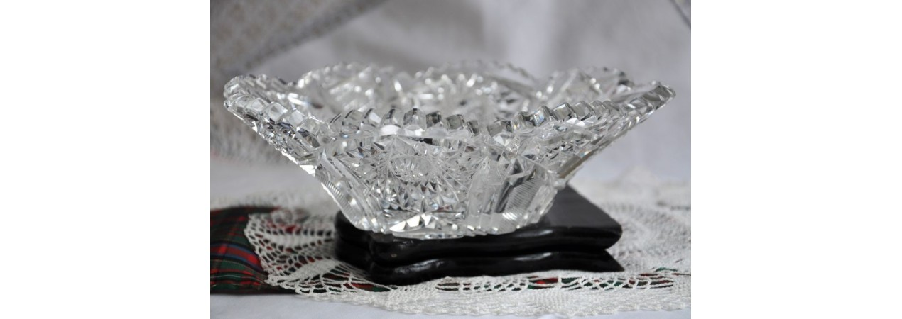 Antique Brilliant Glass Bowl