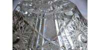 Bol américain ancien en cristal taillé brillant