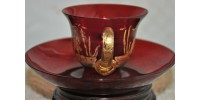 Tasse en verre de Venise incrusté d'or