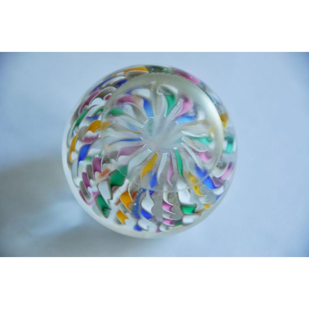 Connu Presse-papiers sulfure en cristal soufflé bouche motif de rubans  RF14
