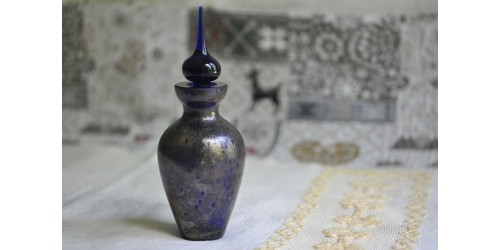 Iridescent Cobalt Blue Perfume Bottle