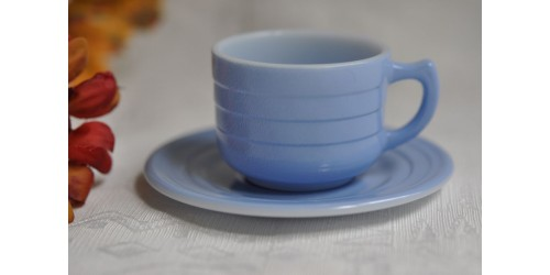Little Hostess Moderntone Blue Cup & Saucer