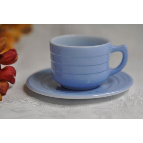 Little Hostess Moderntone Blue Cup & Saucer