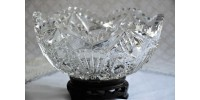 Early Hobnail Hobstar Brillliant Cut Glass Bowl