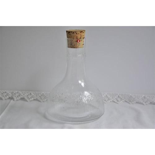 Carafe design Niva Iittala années 70 en verre texturé